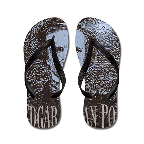 Cafepress Edgar Allan Poe - Flip Flops, Grappige String Sandalen, Strand Sandalen Zwart