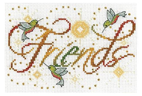 Tobin Friends Mini Cross 5X7 14 Count Stitch Kit