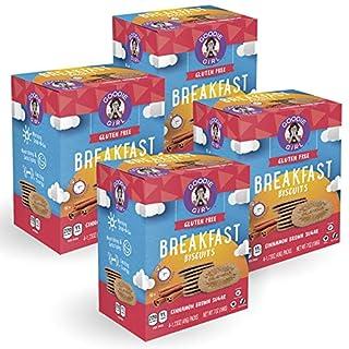 Goodie Girl Cookies Cinnamon Brown Sugar Breakfast Biscuits, Gluten Free, Peanut Free, Vegan, Kosher (Includes 4 Boxes, 16 Individual Packs Total)