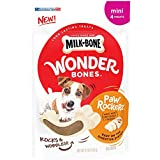 Milk-Bone Wonder Bones Paw Rockers with Real Chicken, Long Lasting Dog Treats, Mini, 6.2 oz (Pack of 6)