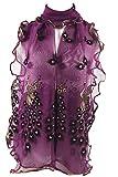 JISTL 6ft Peacock Long Soft Scarf Purple Stole for Pretty Women SJ1378