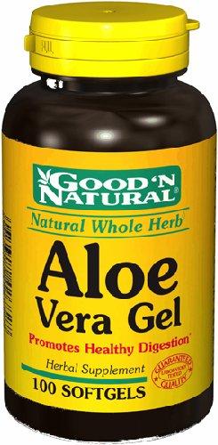 Gel d'Aloe Vera - Favorise une bonne digestion, 100 gélules, (Good'n naturel)