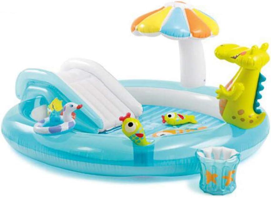 ZY Piscina Inflable para niños, con Fuente de cocodrilo, Piscina para niños, Piscina Infantil con Forma de Bola Marina.