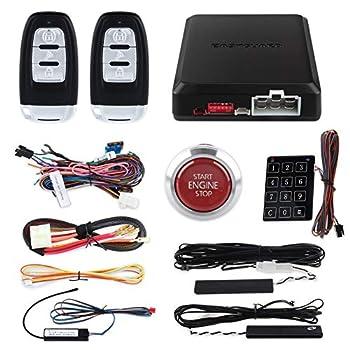 Image of Alarm Systems EASYGUARD EC002-P4 Smart Key PKE car Alarm with auto Start Push Engine Start Button & keyless go Password Entry Lock Unlock DC12V