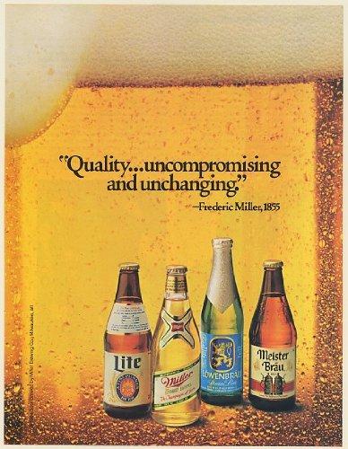 1985-lite-miller-lowenbrau-meister-brau-beer-bottles-quality-frederic-miller-print-ad-memorabilia-58
