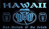 pa2011-b Hawaii Irish Shamrock Home Pub Bar Beer Neon Light Sign