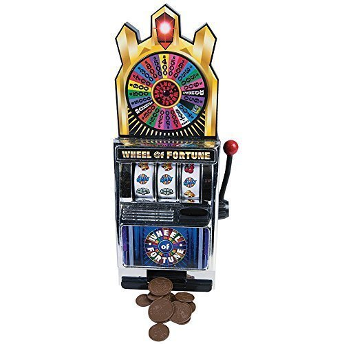 Miniature Wheel Of Fortune Slot Machine Bank - Spin For Savings Or A Jackpot]()