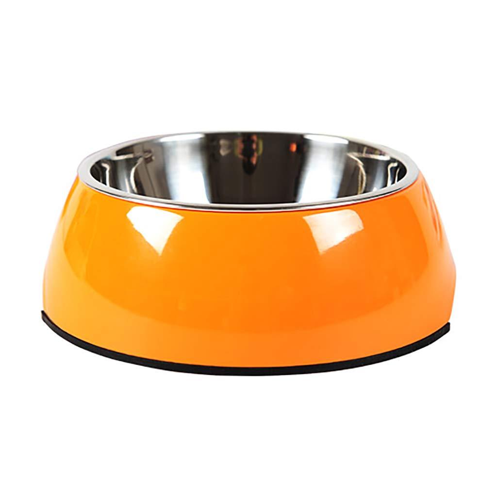 orange Xl orange Xl JIANXIN Cat Bowl, Cat Bowl, Pet Bowl, Suitable for Cats and Dogs (six colors, Four Sizes) (color   orange, Size   XL)