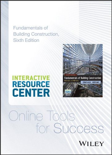 (Interactive Resource Center Access Card for Fundamentals of Building Construction: Materials and Methods,)