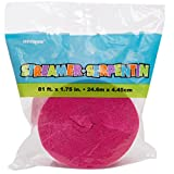 81ft Bright Pink Crepe Paper Streamers