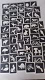 25 x animal stencils for etching on glass mixed gift present glassware hobby craft cat lion monkey swan dog meerkat