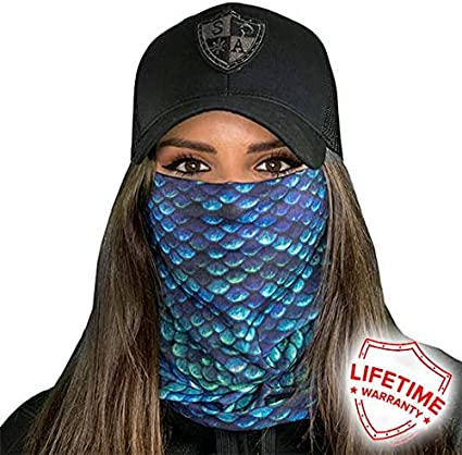 Scarf Fabric /& SPF 40/Face Masks by SA Company SA Fishing Face Shields ** 40 Designs to Choose From ** Quality Multi-Functional Head-wear Bandana Scarf Neck