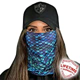SA Fishing Face Shields * * 40 + Designs to Choose From * * Quality Multifunctional Headwear Bandana Scarf Neck Scarf Fabric & SPF 40 Face Masks by SA Company, Mermaid Scales