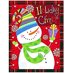 "Funny Snowman Snowflake Let It Double Sided Garden Yard Flag 12"" x 18"", Welcome Winter Christmas Holiday Cheer Decorative Garden Flag Banner for Outdoor Home Decor Party"