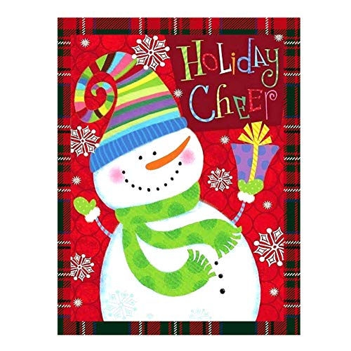 Funny Snowman Snowflake Let It Double Sided Garden Yard Flag 12