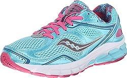 Saucony Women's Lancer Road Running Shoe, Grey/Blue/Pink, 5 M US