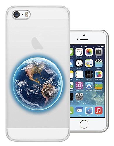 C01536 - Earth From Space Illustration Design iphone SE / iphone 5 5S Fashion Trend Protecteur Coque Gel Rubber Silicone protection Case Coque