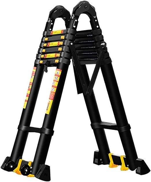 ALYR Multiusos Escalera Telescópica, Telescópica Escalera Extensible Escaleras de Mano 150kg / 330lb Capacidad de Carga para Uso doméstico Techo RV Actividades al Aire Libre,2.1m/6.9ft: Amazon.es: Hogar