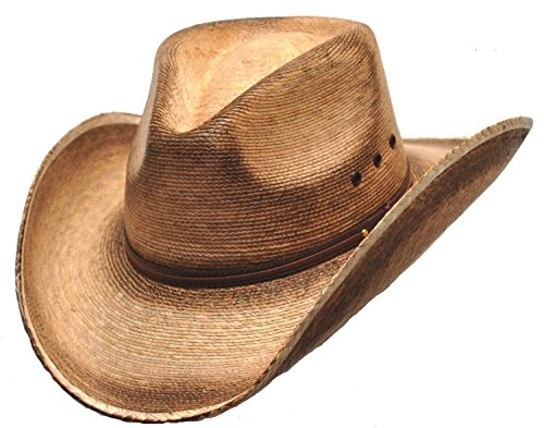 Western Pinch Front Straw Cowboy Hat For Men Size M (Authentic Cowboy Hats)