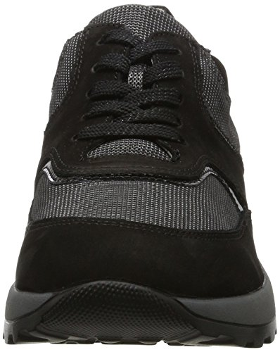 cordones de con mujer Schwarz 001 Negro piel Waldläufer Matura zapatos Hiroko Nub Nubuk s Slack t1Wqwx4I