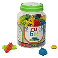 CUBIK Blocks Storage Bucket Building Kit (65 Piece)
