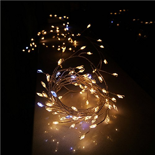 Snowfoller USB Firecracker Lamp Silver String 2 Meters 120 Lamp Rice Grain Light Warm White Holiday Garden Party - Grain Bulb Rice