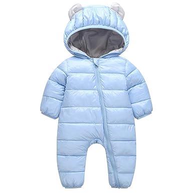 Vine Baby Schneeanzüge Winter Fleece Overall mit Kapuze Mädchen Jungen Strampler Babypuppen & Zubehör