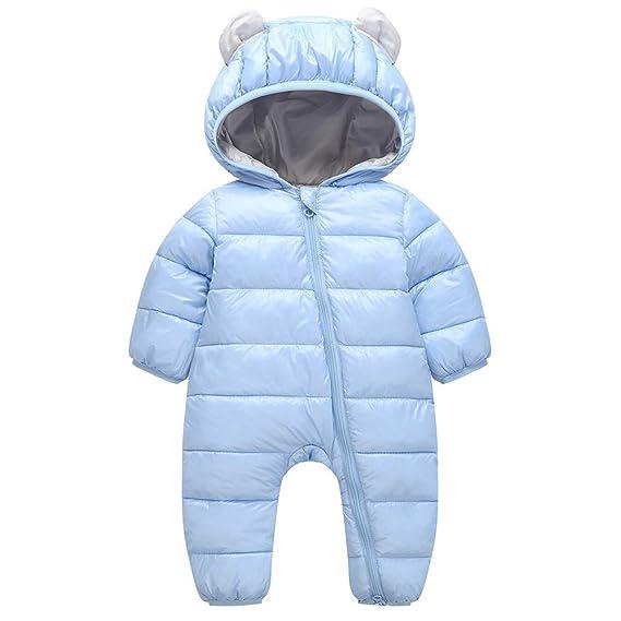 Baby Schneeanz/üge Winter Overall mit Kapuze Daunen Strampler Spielanzug M/ädchen Jungen Footed Jumpsuit