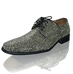 Hematite Crystal Leather Shoes