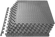 ProsourceFit Puzzle Exercise Mat, EVA Foam Interlocking Tiles, Protective Flooring for Gym Equipment and Cushi