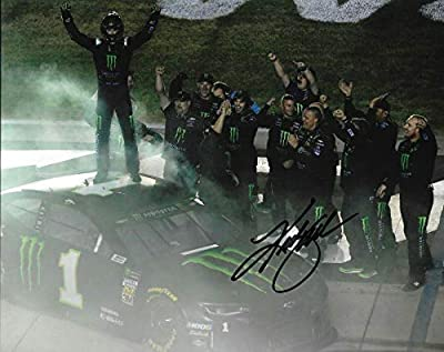 Kurt Busch Signed Photo - 2019 Monter Energy Kentucky WIN 8x10 COA B) - Autographed NASCAR Photos