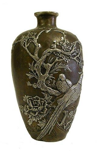 Bronze Bird/Flower Vase by T-Trove