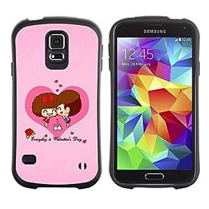 "Hypernova Slim Fit Dual Barniz Protector Caso Case Funda Para Samsung Galaxy S5 [Feliz San Valentín""]"
