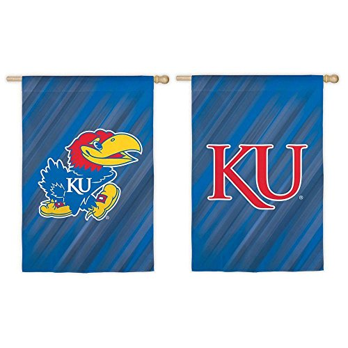Kansas Jayhawks House (NCAA 28 in. x 44 in. Two-Sided Suede House Flag (Kansas Jayhawks))