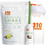 Vegan Organic Plant Protein Powder and Meal Replacement Shake With Shaker Cup and 2 Oz MCT Oil - By 310 Nutrition…
