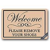 Custom Take Off Your Shoes Doormat Cover Rug Outdoor Indoor Floor Mats  Non Slip Machine