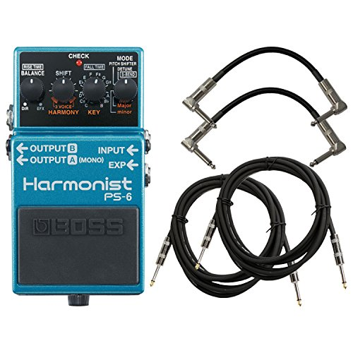 (Boss PS-6 Harmonist Pitch Shifter Bundle w/4 Cables)