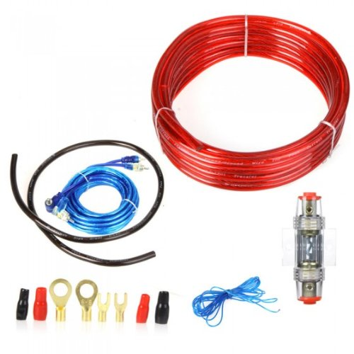 car kit audio sound speaker fuse amp amplifier wiring cable wire kkmoon 1500w car audio wire wiring amplifier subwoofer speaker installation kit 8ga power cable 60 amp