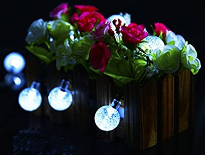 Ecolinear Solar String Lights 30 LEDs Outdoor Solar Powered LED String Lights Waterproof Copper Wire Lights for Christmas Garden