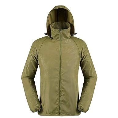 ae995c821 Amazon.com: vermers Men Women Lightweight Jackets Outerwear Casual Waterproof  Windbreaker Jacket Running Hooded Coat: Clothing