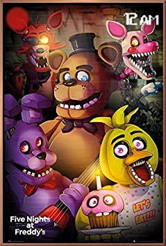 Five Nights at Freddy s – Framed Gaming Poster Print Group Size 24 inches x 36 inches