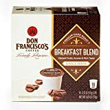 Don Francisco's Breakfast Blend, Premium 100% Arabica Coffee Beans, Medium-Dark Roast, Single-Serve Pods for Keurig, 18-Count, Family Reserve