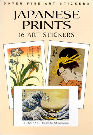 Japanese Prints: 16 Art Stickers (Dover Art Stickers) [Hokusai  Hiroshige and Others] (Tapa Blanda)