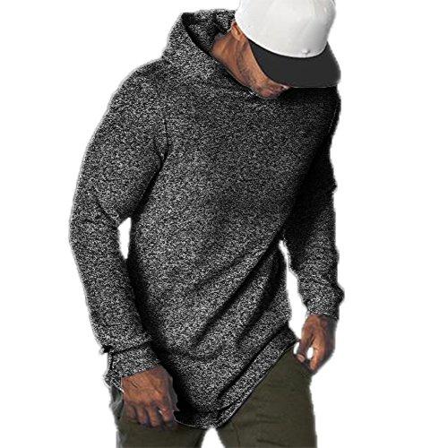 F.Honey Men's Long Sleeve Hooded Slim Fit Crew Neck SWAG Curved Hem Hipster Hip Hop T-Shirt Hoodies (Hooded - M, - Hipster Fashion