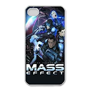 Unique Design Cases iPhone 4,4S Cell Phone Case White Mass Effect Bjwdn Printed Cover Protector