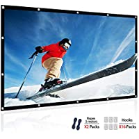 Chalpr Projector Screen, 120 inch 16:9 HD Anti-Crease Foldable Portable Projector Movies Screen, Support Front and Rear Projection for Home Theater Indoor and Outdoor (120 inch)