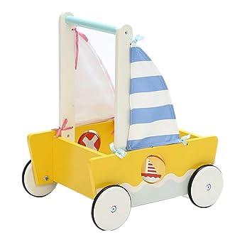 Amazon.com: Niños 2 en 1 Pequeño azul amarillo velero de ...