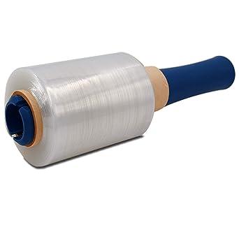 Mini Stretchfolie 100mm x 150m in 23my transparent zum Wickeln und Stretchen