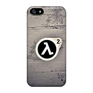 Apple Iphone 5/5s Dwf462bGYb Provide Private Custom HD Half Life Series Shock Absorbent Cell-phone Hard Covers -JohnPrimeauMaurice