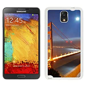 New Beautiful Custom Designed Cover Case For Samsung Galaxy Note 3 N900A N900V N900P N900T With Golden Gate Bridge Moonlight (2) Phone Case